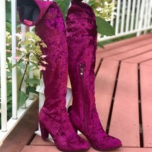 Catherine Malandrino Over-the-Knee Suede Boots